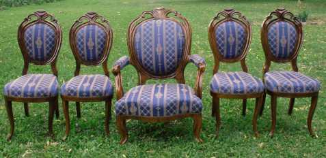 starožitné židle a křeslo r.1870